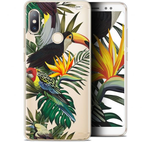 "Coque Gel Xiaomi Redmi Note 5 (5.99"") Extra Fine Motif -  Toucan Tropical"