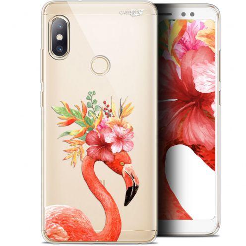 "Coque Gel Xiaomi Redmi Note 5 (5.99"") Extra Fine Motif - Flamant Rose Fleuri"