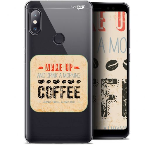 "Coque Gel Xiaomi Redmi Note 5 (5.99"") Extra Fine Motif -  Wake Up With Coffee"