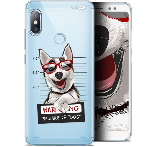 "Coque Gel Xiaomi Redmi Note 5 (5.99"") Extra Fine Motif -  Beware The Husky Dog"