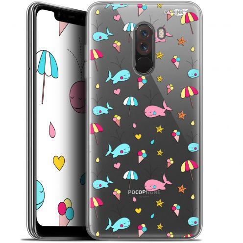 "Coque Gel Xiaomi Pocophone F1 (6.18"") Extra Fine Motif - Baleine à la Plage"
