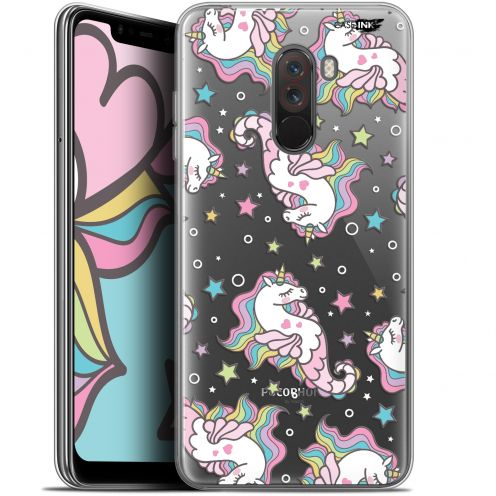 "Coque Gel Xiaomi Pocophone F1 (6.18"") Extra Fine Motif - Licorne Dormante"