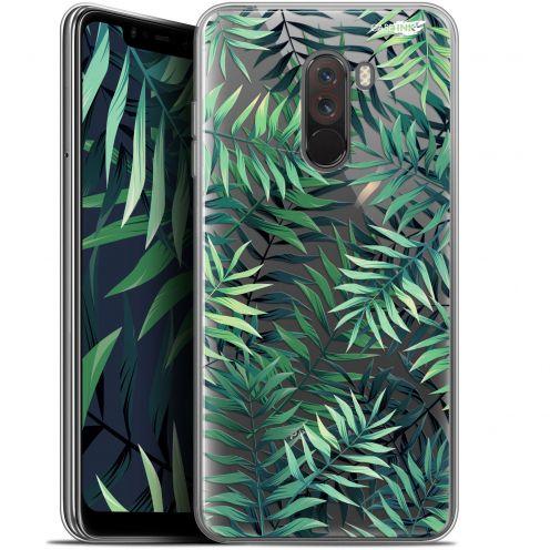 """Coque Gel Xiaomi Pocophone F1 (6.18"""") Extra Fine Motif - Feuilles des Tropiques"""
