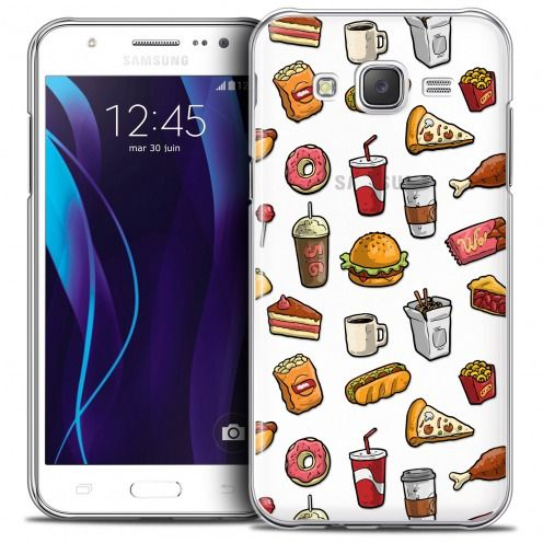 Coque Crystal Galaxy J5 (J500) Extra Fine Foodie - Fast Food