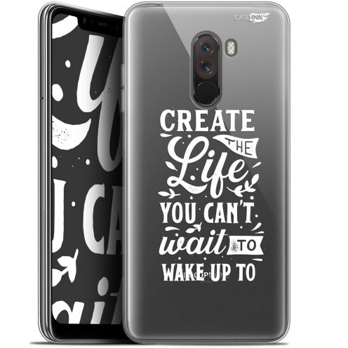 "Coque Gel Xiaomi Pocophone F1 (6.18"") Extra Fine Motif -  Wake Up Your Life"