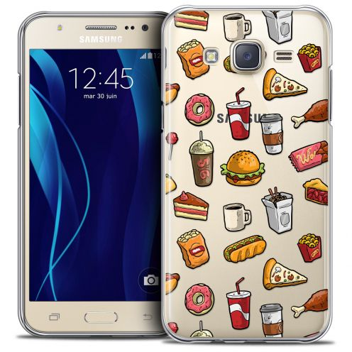 Coque Crystal Galaxy J7 (J700) Extra Fine Foodie - Fast Food