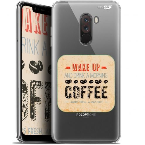 "Coque Gel Xiaomi Pocophone F1 (6.18"") Extra Fine Motif -  Wake Up With Coffee"