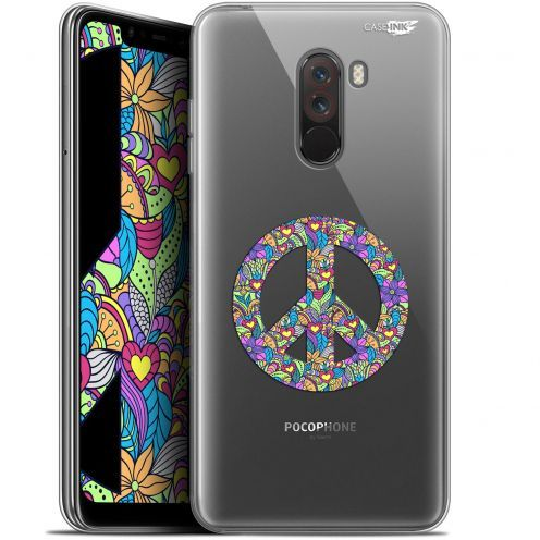 "Coque Gel Xiaomi Pocophone F1 (6.18"") Extra Fine Motif -  Peace And Love"
