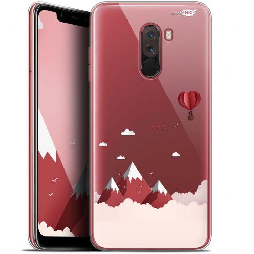 """Coque Gel Xiaomi Pocophone F1 (6.18"""") Extra Fine Motif - Montagne En Montgolfière"""