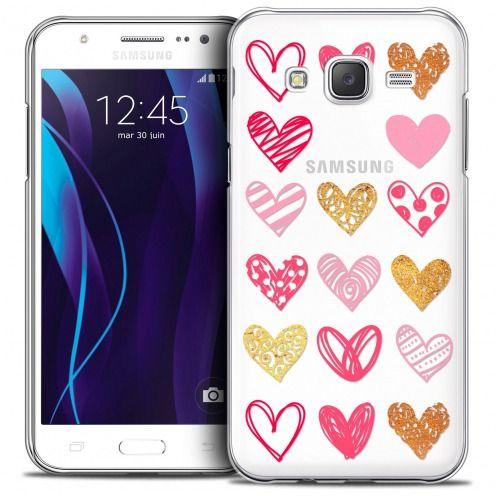 Coque Crystal Galaxy J7 (J700) Extra Fine Sweetie - Doodling Hearts