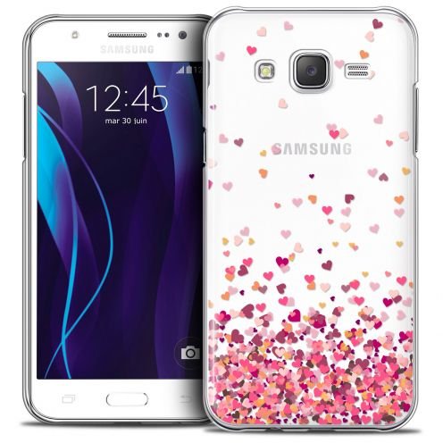 Coque Crystal Galaxy J7 (J700) Extra Fine Sweetie - Heart Flakes
