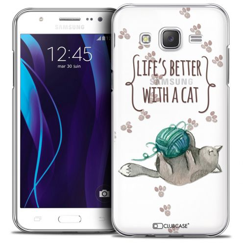 Coque Crystal Galaxy J5 (J500) Extra Fine Quote - Life's Better With a Cat