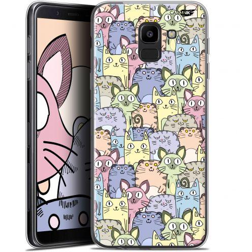 "Coque Gel Samsung Galaxy J6 2018 J600 (5.6"") Extra Fine Motif - Foule de Chats"