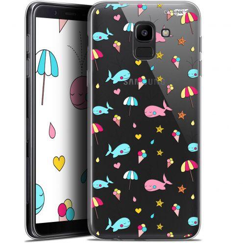 """Coque Gel Samsung Galaxy J6 2018 J600 (5.6"""") Extra Fine Motif - Baleine à la Plage"""
