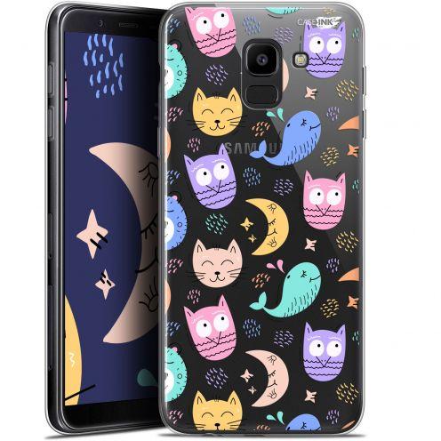 "Coque Gel Samsung Galaxy J6 2018 J600 (5.6"") Extra Fine Motif - Chat Hibou"