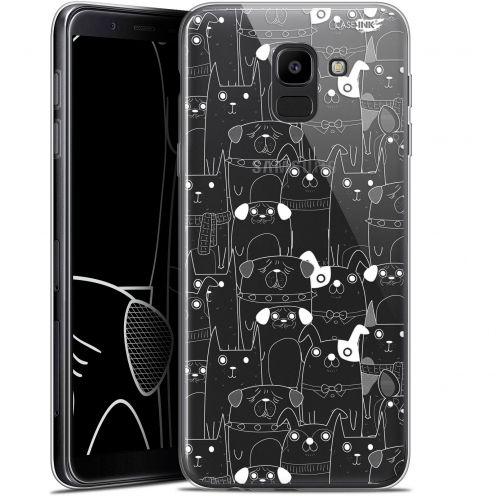 "Coque Gel Samsung Galaxy J6 2018 J600 (5.6"") Extra Fine Motif -  Chien Blanc"