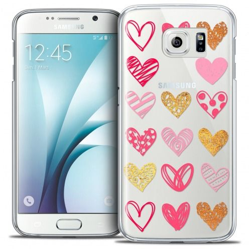 Coque Crystal Galaxy S6 Extra Fine Sweetie - Doodling Hearts