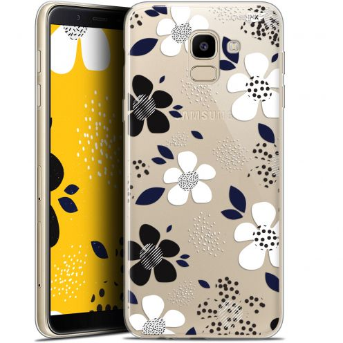 "Coque Gel Samsung Galaxy J6 2018 J600 (5.6"") Extra Fine Motif -  Marimeko Style"