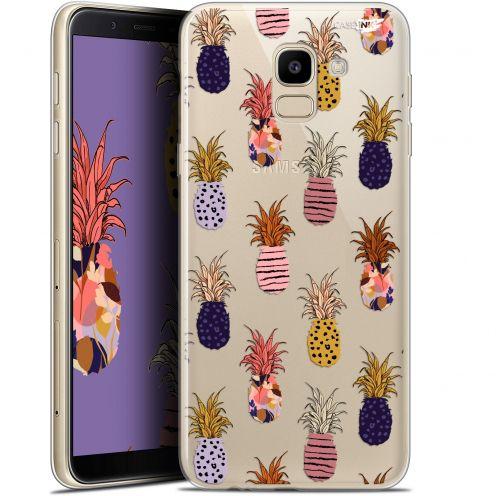 "Coque Gel Samsung Galaxy J6 2018 J600 (5.6"") Extra Fine Motif -  Ananas Gold"
