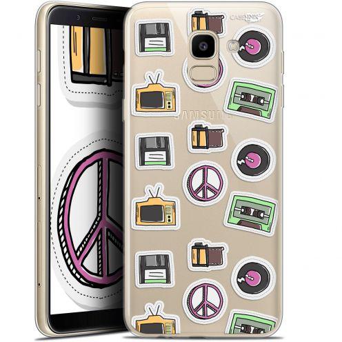 "Coque Gel Samsung Galaxy J6 2018 J600 (5.6"") Extra Fine Motif -  Vintage Stickers"