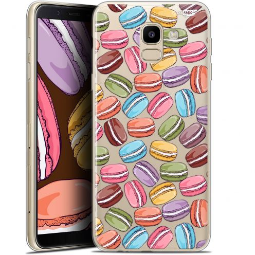 "Coque Gel Samsung Galaxy J6 2018 J600 (5.6"") Extra Fine Motif - Macarons"