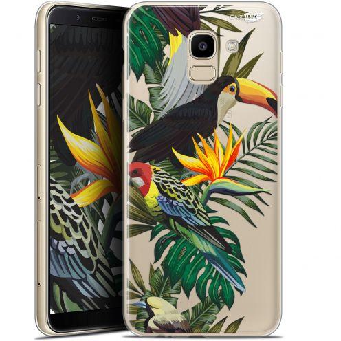 "Coque Gel Samsung Galaxy J6 2018 J600 (5.6"") Extra Fine Motif -  Toucan Tropical"