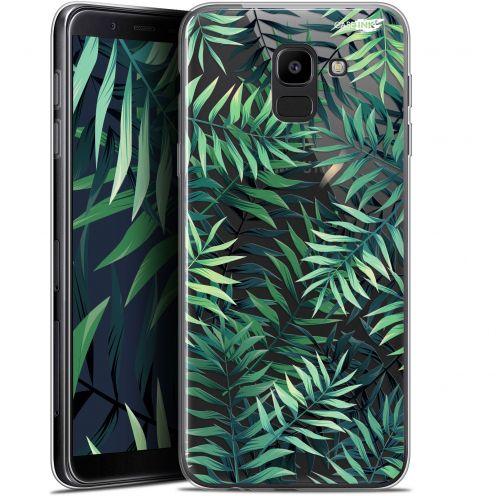 """Coque Gel Samsung Galaxy J6 2018 J600 (5.6"""") Extra Fine Motif -  Feuilles des Tropiques"""