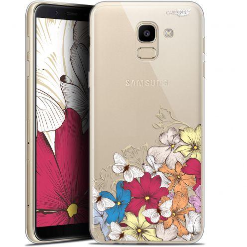 "Coque Gel Samsung Galaxy J6 2018 J600 (5.6"") Extra Fine Motif -  Nuage Floral"