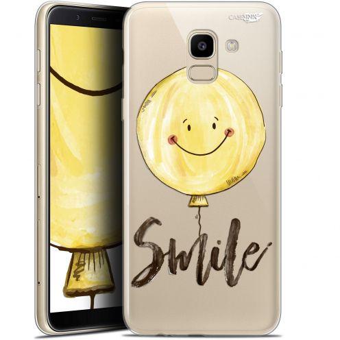 "Coque Gel Samsung Galaxy J6 2018 J600 (5.6"") Extra Fine Motif -  Smile Baloon"