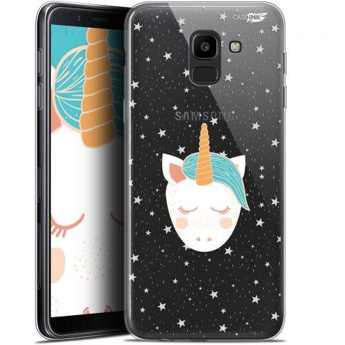 "Coque Gel Samsung Galaxy J6 2018 J600 (5.6"") Extra Fine Motif -  Licorne Dors"