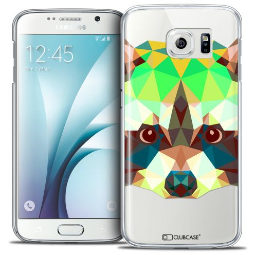 Coque Crystal Galaxy S6 Extra Fine Polygon Animals - Raton Laveur