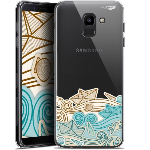 "Coque Gel Samsung Galaxy J6 2018 J600 (5.6"") Extra Fine Motif -  Bateau de Papier"
