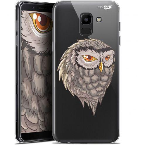 "Coque Gel Samsung Galaxy J6 2018 J600 (5.6"") Extra Fine Motif -  Hibou Draw"
