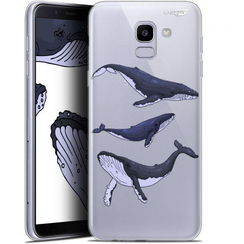 "Coque Gel Samsung Galaxy J6 2018 J600 (5.6"") Extra Fine Motif -  Les 3 Baleines"