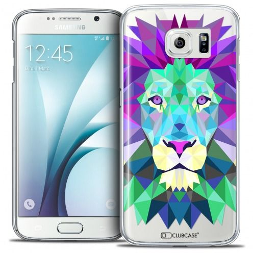 Coque Crystal Galaxy S6 Extra Fine Polygon Animals - Lion
