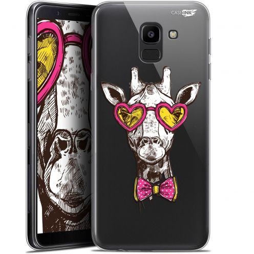 "Coque Gel Samsung Galaxy J6 2018 J600 (5.6"") Extra Fine Motif -  Hipster Giraffe"