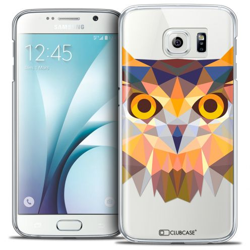 Coque Crystal Galaxy S6 Extra Fine Polygon Animals - Hibou