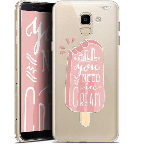 "Coque Gel Samsung Galaxy J6 2018 J600 (5.6"") Extra Fine Motif -  Ice Cream"