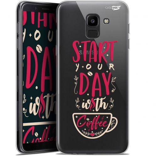 "Coque Gel Samsung Galaxy J6 2018 J600 (5.6"") Extra Fine Motif -  Start With Coffee"