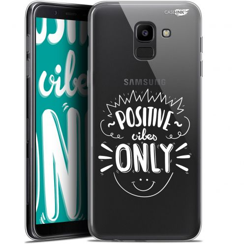 """Coque Gel Samsung Galaxy J6 2018 J600 (5.6"""") Extra Fine Motif - Positive Vibes Only"""
