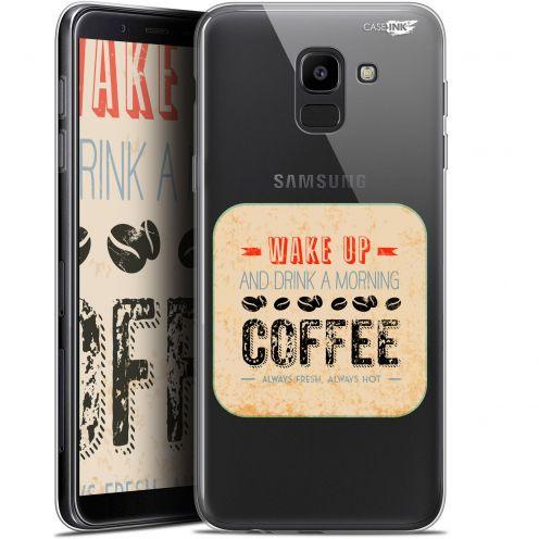 "Coque Gel Samsung Galaxy J6 2018 J600 (5.6"") Extra Fine Motif -  Wake Up With Coffee"