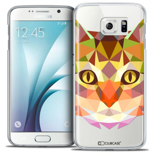 Coque Crystal Galaxy S6 Extra Fine Polygon Animals - Chat