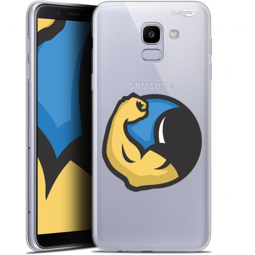 "Coque Gel Samsung Galaxy J6 2018 J600 (5.6"") Extra Fine Motif -  Monsieur Muscle"