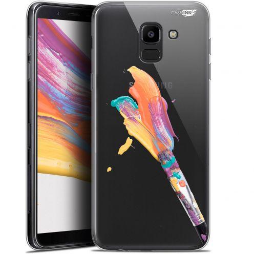 """Coque Gel Samsung Galaxy J6 2018 J600 (5.6"""") Extra Fine Motif -  Pinceau de Peinture"""