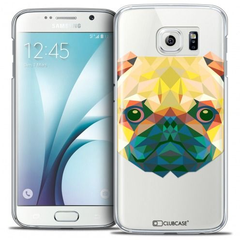 Coque Crystal Galaxy S6 Extra Fine Polygon Animals - Chien
