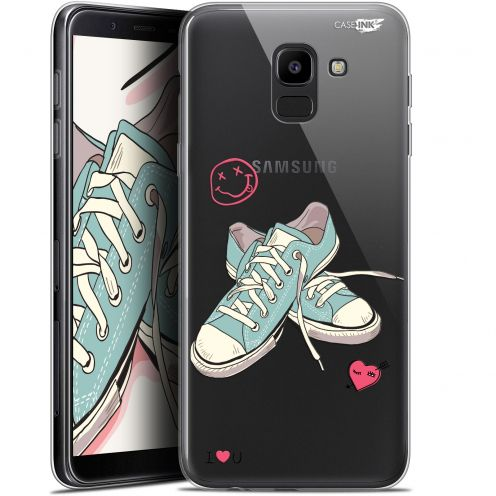 """Coque Gel Samsung Galaxy J6 2018 J600 (5.6"""") Extra Fine Motif -  Mes Sneakers d'Amour"""