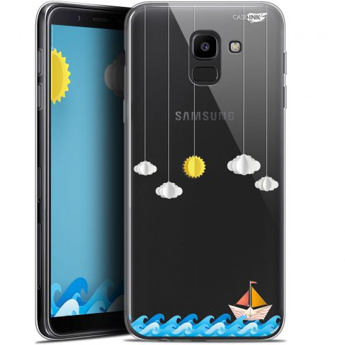 "Coque Gel Samsung Galaxy J6 2018 J600 (5.6"") Extra Fine Motif -  Petit Bateau en Mer"