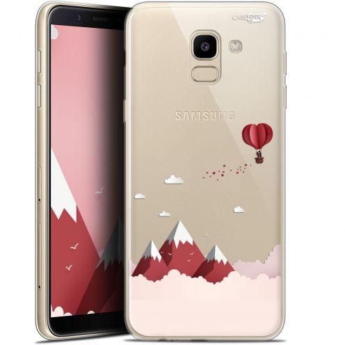 "Coque Gel Samsung Galaxy J6 2018 J600 (5.6"") Extra Fine Motif -  Montagne En Montgolfière"