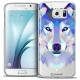 Coque Crystal Galaxy S6 Extra Fine Polygon Animals - Loup
