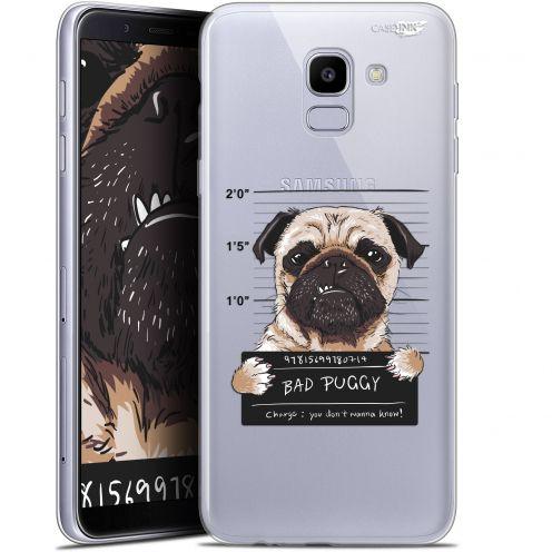 "Coque Gel Samsung Galaxy J6 2018 J600 (5.6"") Extra Fine Motif -  Beware The Puggy Dog"
